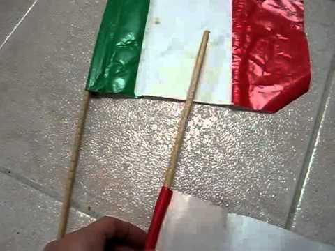 Grade 1 – Social Studies arts and crafts project: Make your own flags with paper and sticks.