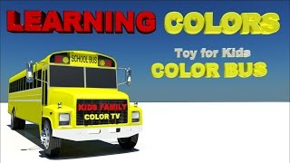 Learning Colors with 3D COLOR BUS Toy for Kids and Children