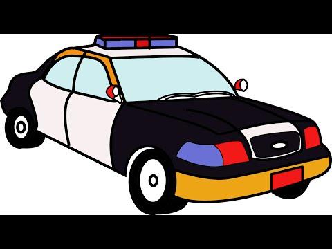 [BYHV] Bé Yêu Học Vẽ - Xe Cảnh Sát - Police Car.