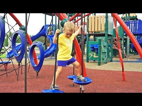 🌟 Играем на Детской Площадке в Америке – Видео для Детей влог entertainment (видео)