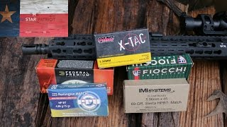 In this video, I perform some accuracy testing with the Anderson AM15 rifle. While the rifle performed well with a variety of different loads, the IMI 69 grain Sierra HPBT Match was the winner.Correction: The twist rate of the barrel is 1:8, not 1:7 as indicated in the video. Thanks for watching and subscribing! Keep up the good fight!~The Lonestar PatriotCheck out Facebook.com/TheLonestarPatriot