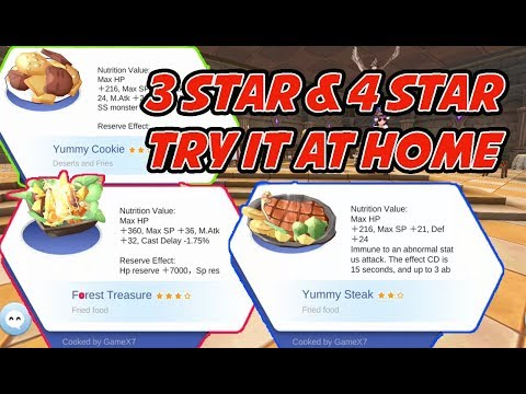 Ragnarok Cooking Recipe : 3 Star & 4 Star For MVP - RO Mobile