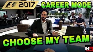 F1 2017 CAREER MODE - CHOOSE MY TEAM VOTE. SO WE ARE NOW AT THAT STAGE OF THE YEAR WHERE YOU GUYS...