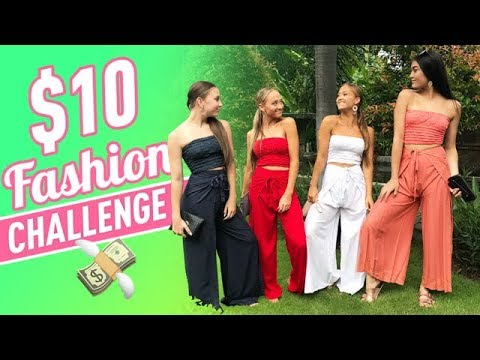 $10 Fashion Challenge in 10 Minutes!   The Rybka Twins