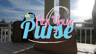 Lucky STAR 102.5 listeners get the first look at the purses they could win this fall with STAR 102.5's Pick Your Purse