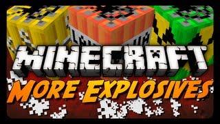 Minecraft: More Explosives Mod! (Missiles, Land Mines, Fireworks&More)