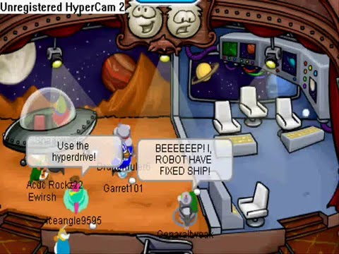 Club Penguin Alien Ship Play (Grand Opening)