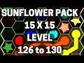 Flow Free Hexes Sunflower Level 126, 127, 128, 129, 130