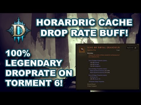 D3 - The newest Diablo 3: Reaper of Souls hotfix buffed the drop rates of Horadric Cache only legendaries and made their drop rates scale with difficulty. It look...