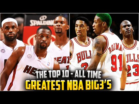 THE 10 GREATEST BIG 3s IN NBA HISTORY! Michael Jordan! LeBron James! DURANT?
