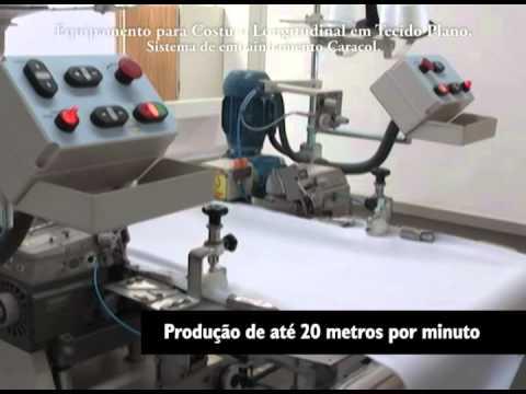 Máquina de Costura longitudinal para tecido plano Inarmeg (Embanhador Caracol)