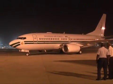 Watch President Muhammadu Buhari Arrival To Abuja Yesterday