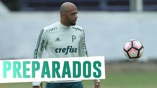 O Palmeiras finalizou a preparação para encarar o Peñarol-URU com treinou nesta terça (25), no estádio Luis Franzini, casa do Defensor-URU. -----------------...