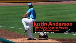 Justin Anderson, RHP, Los Angeles Angels — 2016 California League