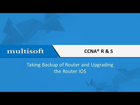 How to take backup and upgrade router ios Training