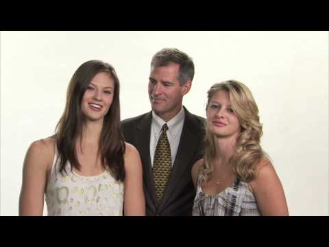 Scott Brown with his daughters Ayla and Arianna Brown.