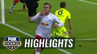 Forsberg puts RB Leipzig in front 1-0 against Augsburg | 2016–17 Bundesliga Highlights by FOX Soccer