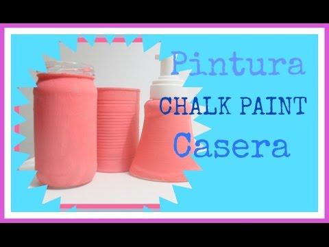 C mo hacer pintura a la tiza o chalk paint manualidades - Pintura ala tiza casera ...