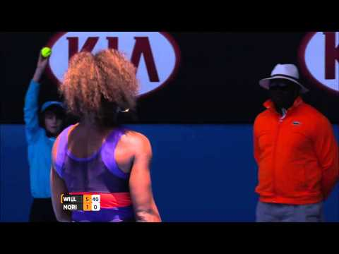 Serena Williams awesome serve