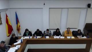 Sessió extraordinària del Ple de l'Ajuntament de Xeraco. Desembre 2016