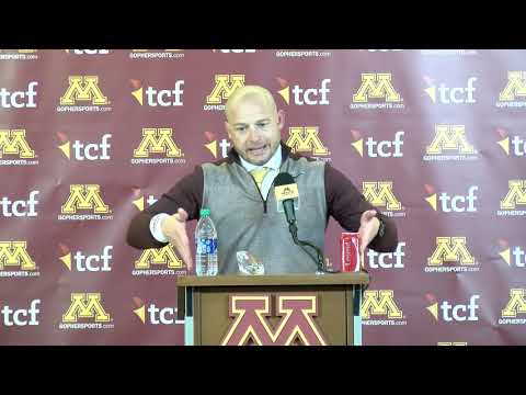 Press Conference: P.J. Fleck on Gophers' Win vs. #5 Penn State