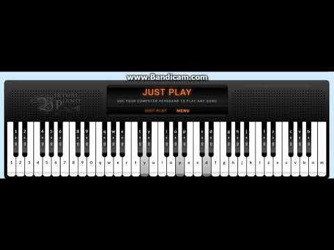 Gary jules - Mad world - Virtual Piano cover ( Pc keyboard ) [ WITH SHEET  ]