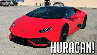 In this video, I drive the 2015 Lamborghini Huracan. The Huracan is the smaller and less expensive Lamborghini model featuring a V10 engine with 610 horsepower. This particular one has a race exhaust on it making it much louder than a stock Huracan. I drive the car around and give my impressions.