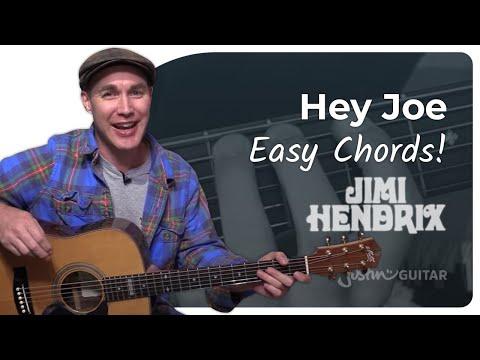 Hey Joe – Jimi Hendrix – Easy Song Beginner Guitar Lesson (BS-301)
