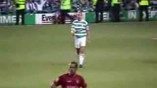 Henrik Larssons letzte Partie für Celtic
