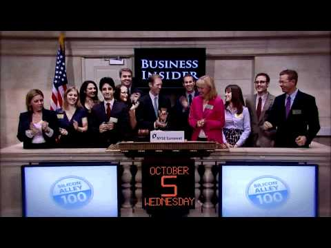 5 October 2011 Business Insider rings the NYSE Opening Bell