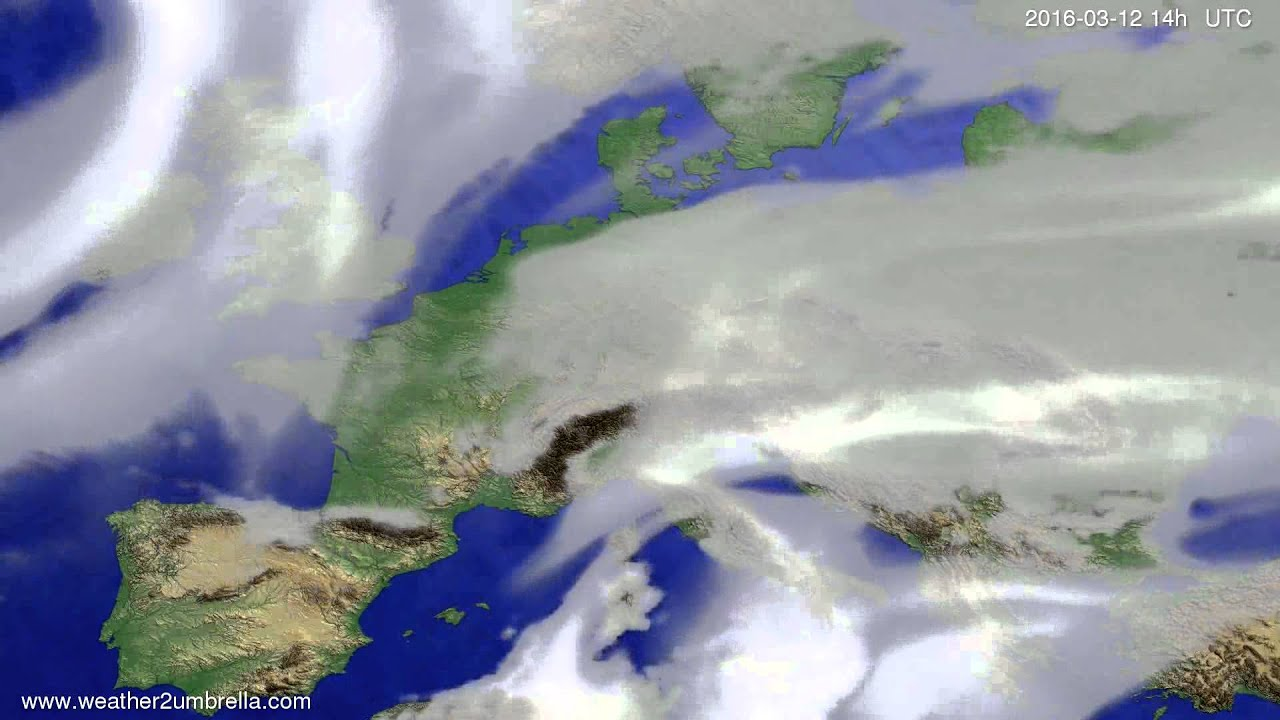 Cloud forecast Europe 2016-03-08