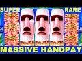 FULL SCREEN ★HANDPAY JACKPOT★ Great Moai Slot Machine $750 Max Bet ★SUPER RARE HANDPAY★   Live Slot