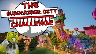 Huge Enderman & Mad Hatters Tea Party! | The Subscriber City Challenge | Ep.6