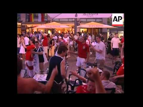 England and German fans in scuffles after Germany win - adds arrests