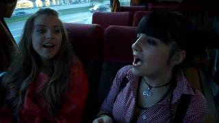 Eurovision 2009 HD - Kejsi Tola (Albania) Performing Carry Me In Your Dreams Live In A Bus