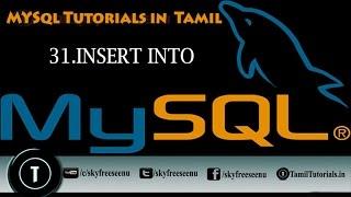 MYSQL Tutorials In Tamil 31 INSERT INTO