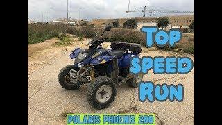 10. How fast can a Polaris Phoenix 200 go.. (Top Speed Run)