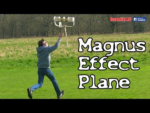 Young kid builds and flies a magnus effect RC plane