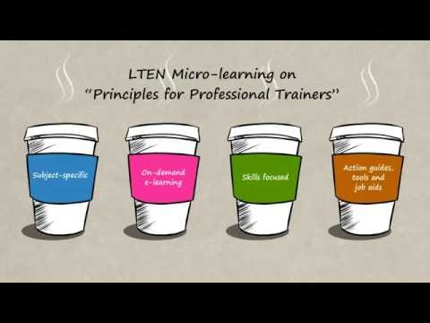 New LTEN eLearning Lounge - Principles for Professional Trainers