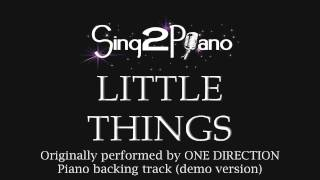Video Little Things - One Direction (Piano backing track) download in MP3, 3GP, MP4, WEBM, AVI, FLV January 2017