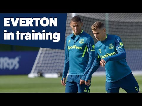 Video: INCREDIBLE FINISHING + STUNNING SAVES! | EVERTON IN TRAINING