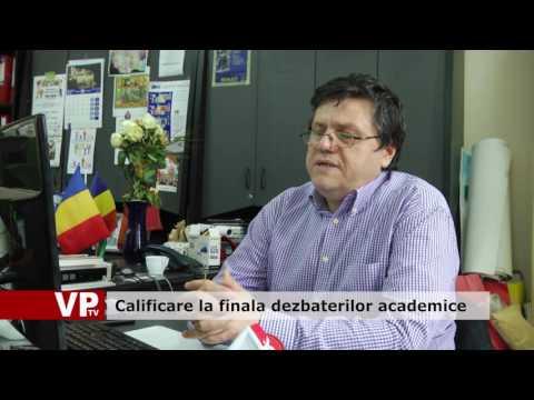 Calificare la finala dezbaterilor academice