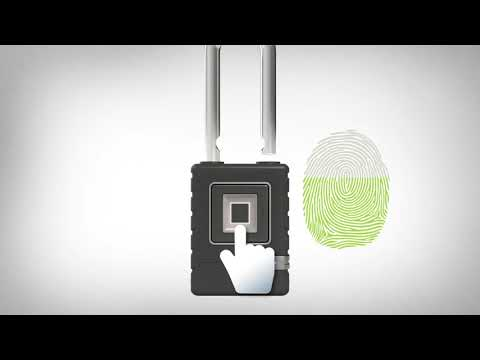 4901EURDLH生物识别挂锁:如何添加指纹