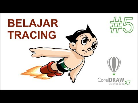 Tutorial Corel Draw X7 BELAJAR TRACING Bagian 1 - Part 5 Bahasa Indonesia