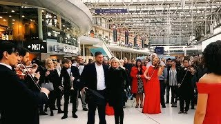Video Best Marriage Proposal Ever | Flash Mob Surprise Orchestra Waterloo Station Engagement MP3, 3GP, MP4, WEBM, AVI, FLV Juni 2019