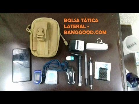 Review Bolsa tática lateral Banggood.