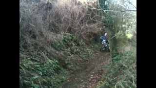 10. trials at the farm on my gas gas 125 and my brother on dads 290 beta evo