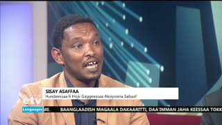 MARII DHIMMA DARGAGGOOTA FI DIINAGDEE JEDHU IRRATTI TAASIFAME |etv