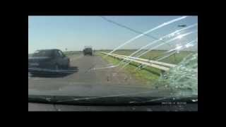 (Full video) Woman killed by brick through windshield *GRAPHIC*