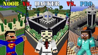 Minecraft NOOB vs. HACKER vs. PRO: SECURE BASE CHALLENGE in Minecraft